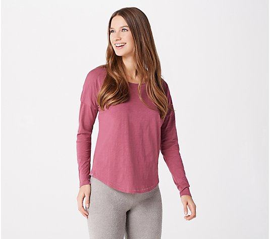 Barefoot Dreams Malibu Collection Slub Jersey Slouchy Tee