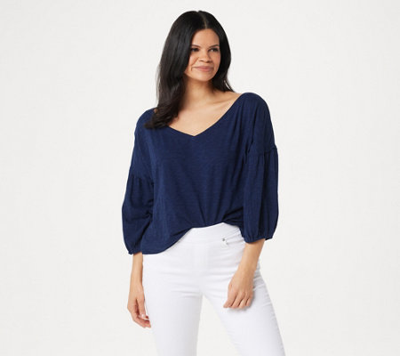 As Is Rachel Hollis Ltd Slub Peasant Top