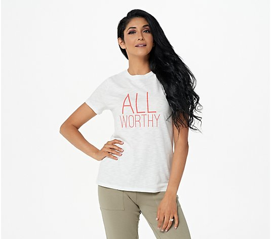 "All Worthy Hunter McGrady Slub Knit ""All Worthy"" Graphic T-Shirt"
