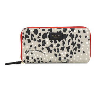 RADLEY London Leopard Oilskin Large Zip AroundMatinee - A440659