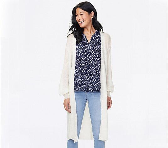 NYDJ Featherweight Draped Knit Cardigan