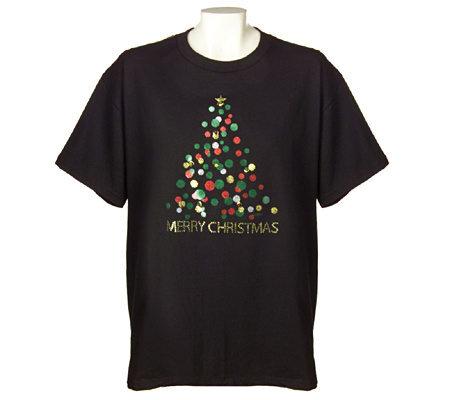 holiday tree t shirt with flashing led mini lights