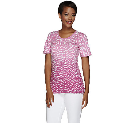 Liz Claiborne New York Printed U-Neck Tee