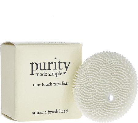 philosophy purity one- touch facialist silicone brush head