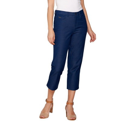 H by Halston Studio Stretch Five Pocket Crop Pants