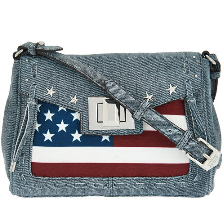 Aimee Kestenberg Leather Flag Crossbody - Washington
