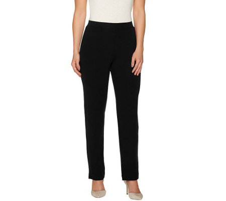 """As Is"" Susan Graver Dolce Knit Comfort Waist Straight Leg Pants"
