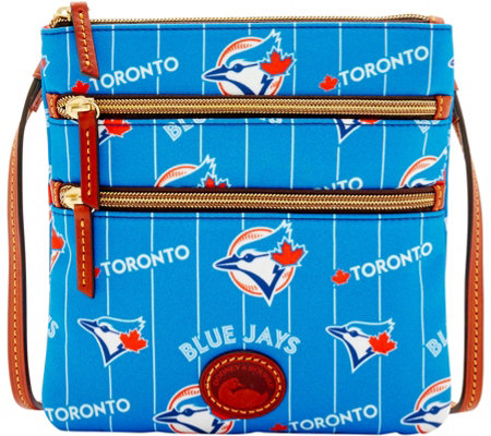 Dooney & Bourke MLB Nylon Blue Jays Triple Zip Crossbody