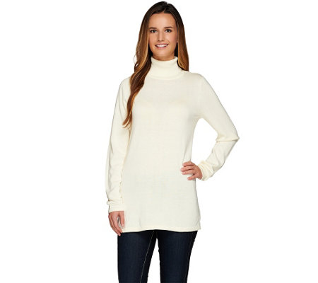 """As Is"" Joan Rivers Wardrobe Builders Turtleneck Tunic Sweater"