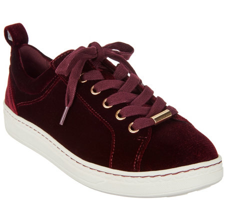 Earth Velvet Lace-up Sneakers - Zag