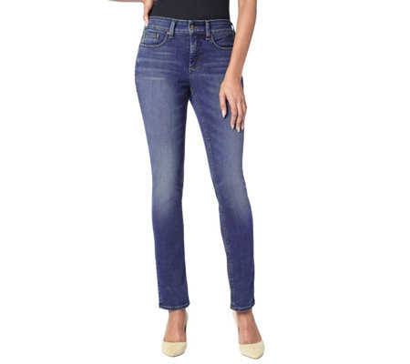 NYDJ Marilyn Straight Leg 5-Pocket Jeans - Heyburn