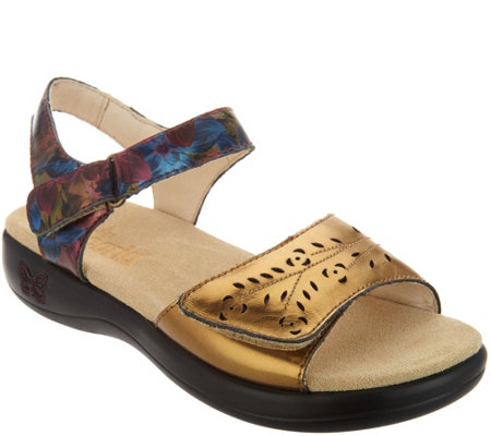 Alegria Leather Adjustable Sandals - Jesa