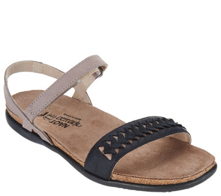 bc808126386 Naot Leather Ankle Strap Sandals - Mabel - Page 1 — QVC.com