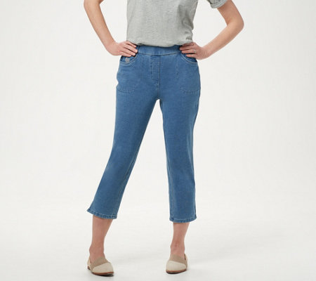 Quacker Factory DreamJeannes Pull-On Straight Leg Crop Pants