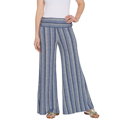 Lisa Rinna Collection Regular Printed Palazzo Pant