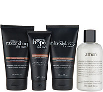 philosophy amen & skincare 4-piece mens care collection - A309460