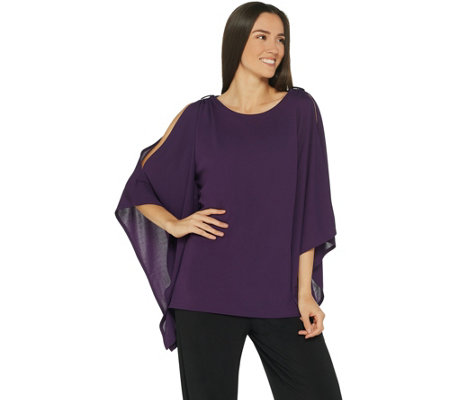 Belle by Kim Gravel Statement Tunic with Shoulder Trim