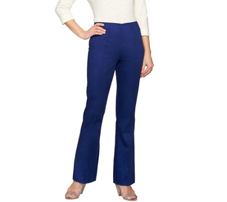 """As Is"" C. Wonder Petite Flare Leg Pants with Seaming Detail"