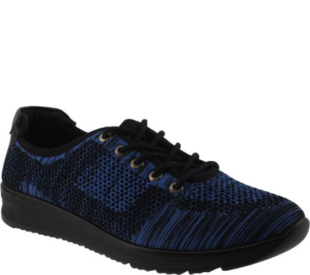 Flexus by Spring Step Woven Lace-up Shoes - Popsanda