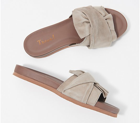 Think! Leather Slide Sandal - Shik