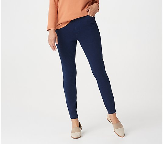 Denim & Co. Comfy Knit Pull-On Ankle Jeggings