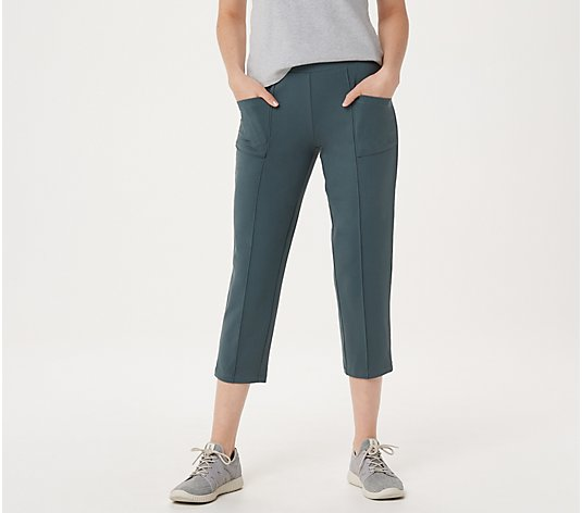 """As Is"" Denim & Co. Active Duo Stretch Capris"