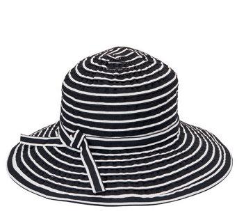 San Diego Hat Co. Striped Ribbon Braid Floppy Hat - A412560 48955048d9f9