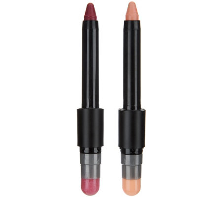 treStiQue Matte Color and Shiny Balm 2-in-1 LipCrayon Duo