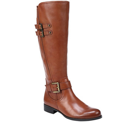 Naturalizer Low Heel Leather Riding Boots - Jessie