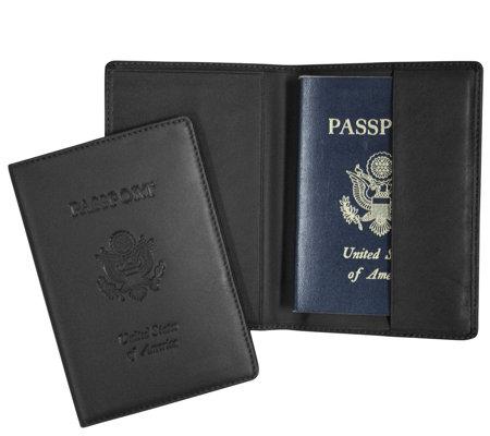 Royce New York Leather Debossed Rfid Passport Jacket