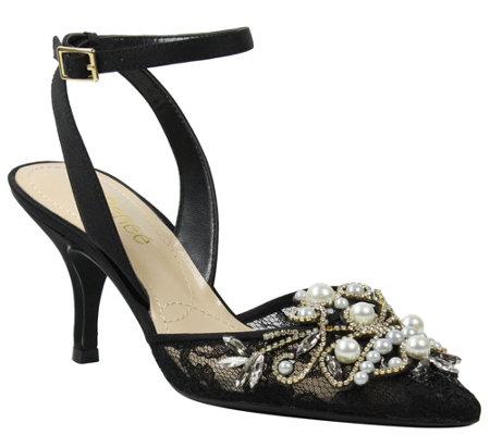 069cedce4e9 J. Renee Mid Heel Ankle Strap - Denaye — QVC.com