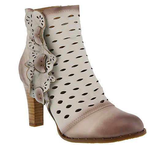 L`Artiste by Spring Step Leather Booties - Cascadia