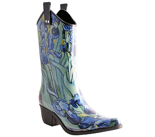 Nomad Pull-On Cowboy Rubber Rain Boots - Yippy