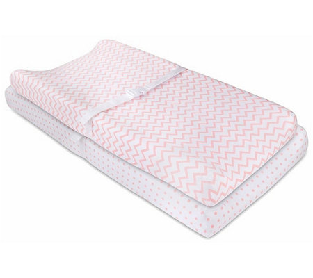 Ely's & Co. Pink Changing Pad Cover & Cradle Sheet Set