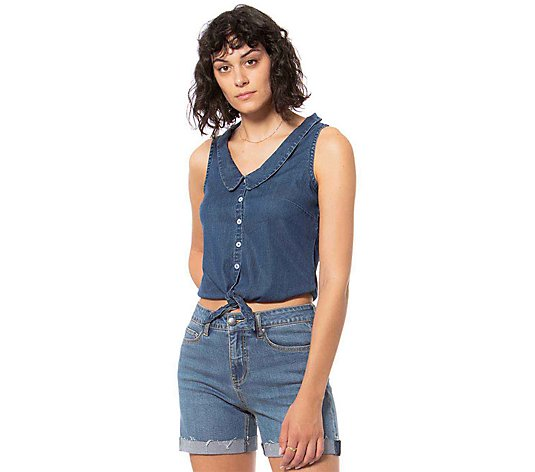Lola Jeans Sleeveless Denim Top - Rose