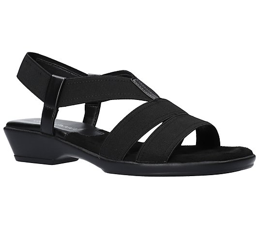 Easy Street Slip-On Stretch Sandals - Treasure