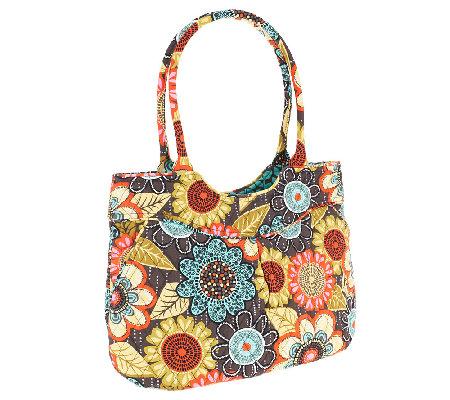 Vera Bradley Signature Print Pleated Shoulder Bag