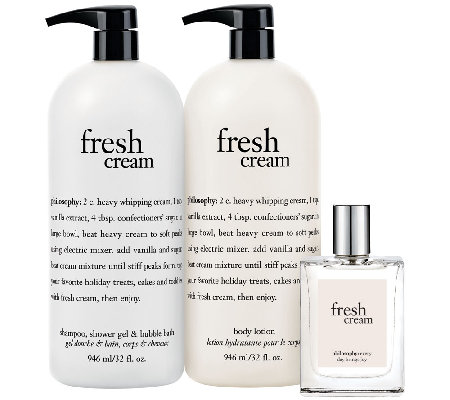 philosophy fresh cream dreamy trio
