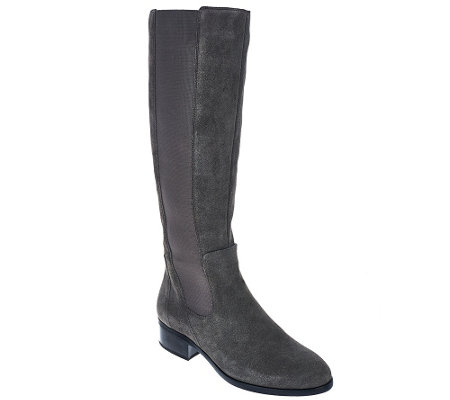 """As Is"" H by Halston Gored Tall Shaft Boots - Naomi"