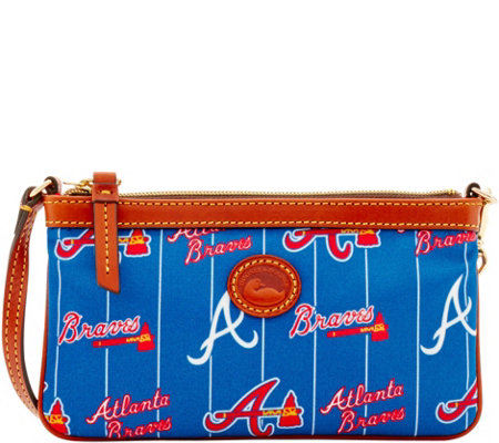 Dooney & Bourke MLB Nylon Braves Large Slim Wristlet