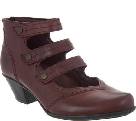 Earth Leather Multi-strap Booties - Serano