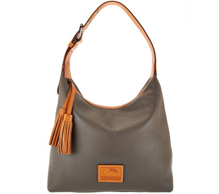 Dooney Bourke Patterson Pebble Leather Hobo Paige