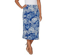 Linea by Louis Dell'Olio Faux Wrap Printed Midi Skirt - A302561