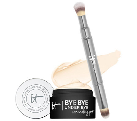 IT Cosmetics Bye Bye Under Eye Concealing Pot with Brush