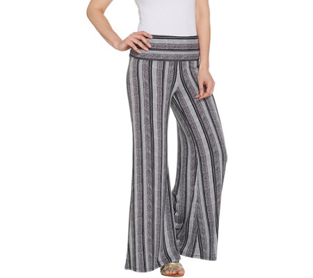 Lisa Rinna Collection Petite Printed Palazzo Pant