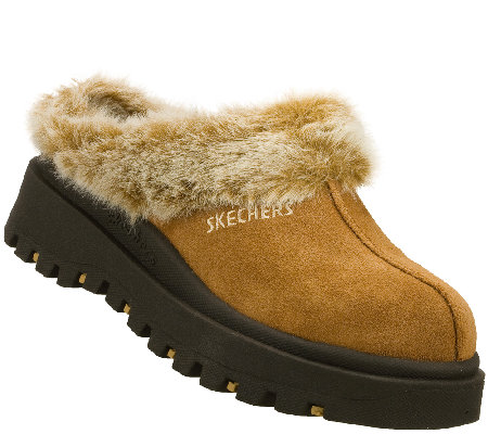 Skechers Suede Leather Clogs - Shindigs-Fortress