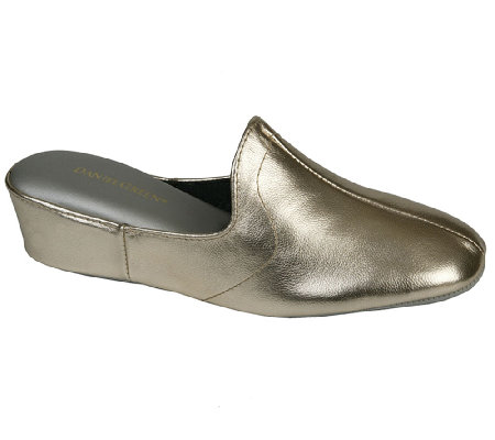 Daniel Green Traditional Slip On Wedge Slippers Glamour