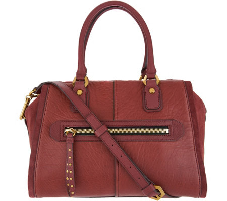 """As Is"" orYANY Lamb Leather Satchel Handbag - Donna"