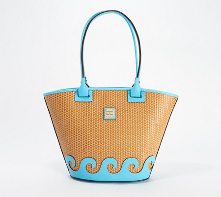 Dooney & Bourke Beacon Leather Woven Atlantic Tote