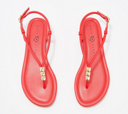 Katy Perry Beaded Thong Sandals - The Jubee